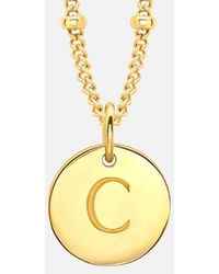 Missoma - Gold 'c' Initial Necklace - Lyst