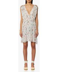 Isabel Marant - Etoile Women's Estelle Printed Chiffon Silk Short Dress - Lyst