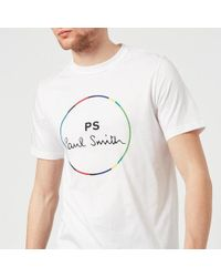 PS by Paul Smith | Men's Regular Fit Circle Logo Tshirt | Lyst