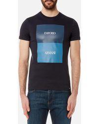 Emporio Armani - Men's Square Print Tshirt - Lyst
