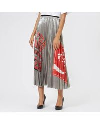 Marc Jacobs - Pizza Print Pleated Skirt - Lyst