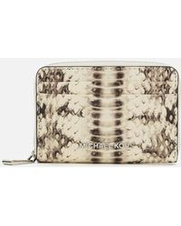 MICHAEL Michael Kors - Women's Zip Around Card Case - Lyst