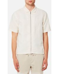 Folk - Men's Linen Zip Shirt - Lyst