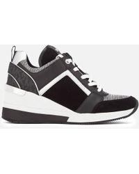 MICHAEL Michael Kors - Leather Georgie Sneakers - Lyst