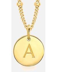 Missoma | Women's Initial Charm Necklace A | Lyst