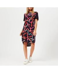 PS by Paul Smith - Women's Ribon Front Tshirt Dress - Lyst