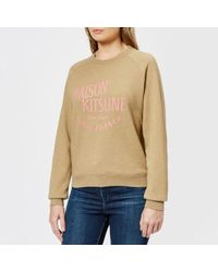 Maison Kitsuné - Palais Royal Cotton Sweatshirt - Lyst