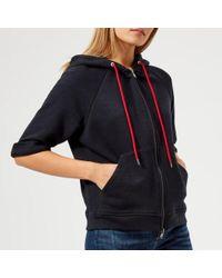 Emporio Armani - Women's Drawstring Hooded Sweatshirt - Lyst