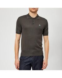 Vivienne Westwood - Men's Classic Knitted Polo Shirt - Lyst