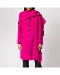 19fe9f26f096 Marc Jacobs - Notch Collar Coat W hood Scarf - Lyst