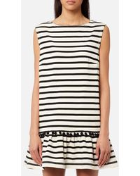 Marc Jacobs - Women's Striped Dress With Flare Pom Poms - Lyst