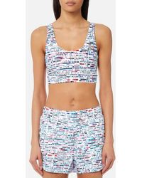 Lucas Hugh - Women's Glitch Sports Bra - Lyst