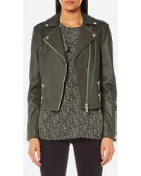 MICHAEL Michael Kors - Women's Four Pocket Biker Jacket - Lyst
