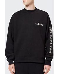 Alexander Wang - Men's Credit Card Decal Sweatshirt - Lyst