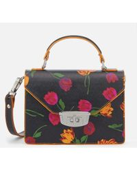 Ganni - Women's Gallery Floral Bag - Lyst
