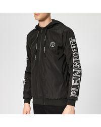 15c4a765b53 Philipp Plein Nylon Stress Winter Jacket in Black for Men - Lyst
