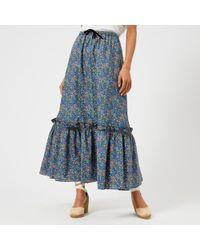 A.P.C. - Women's Cecil Maxi Liberty Print Skirt - Lyst