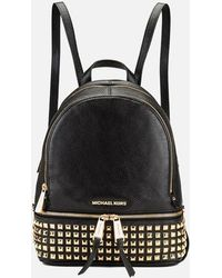 MICHAEL Michael Kors - Rhea Zip Studded Leather Backpack - Lyst