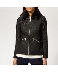 Barbour - Women's Croft Wax Jacket - Lyst