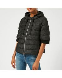 Herno Short Jacket With Hood And Cropped Sleeve