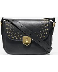Cole Haan - Marli Studded Mini Saddle Bag - Lyst