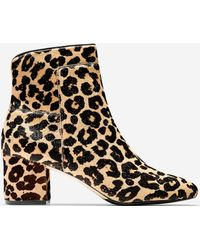 Cole Haan - Arden Leopard-print Fur Booties - Lyst