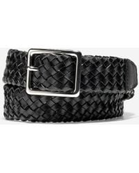 Cole Haan - 32mm Tubular Woven Leather Belt - Lyst