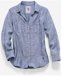 Cole Haan - Women's Pinch Long Sleeve Woven Shirt - Lyst