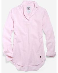 Cole Haan - Women's Pinch Long Sleeve Linen Popover Shirt - Lyst