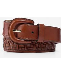 Cole Haan - Genevieve Weave Leather Belt - Lyst