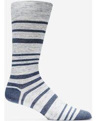 Cole Haan - Cotton Twist Stripe Crew Socks - Lyst