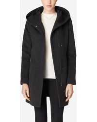 Cole Haan - Hooded Italian Alpaca Coat - Lyst