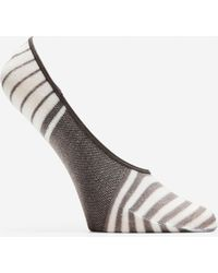 Cole Haan - Striped No-show Socks - 2 Pack - Lyst