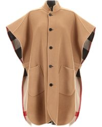 Burberry - Reversible Poncho - Lyst