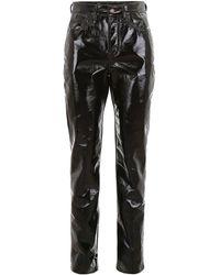 Saint Laurent Vinyl Pants - Black