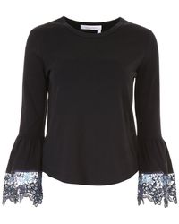 See By Chloé - Cotton Top With Lace Details - Lyst