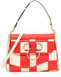 03fa8a093f15 Lyst - Chanel New Medium Checkerboard Boy Flap Bag Black in Metallic
