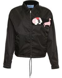 Prada - Nylon Gabardine Jacket W/ Patches - Lyst
