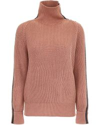 Bottega Veneta - Pullover With Leather Inserts - Lyst
