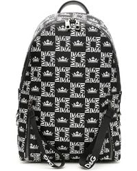 Dolce & Gabbana - Square Logo Nylon Backpack - Lyst