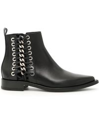 Alexander McQueen - Braided Chain Ankle Boots - Lyst
