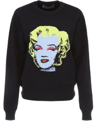 Versace - Pullover With Intarsia - Lyst