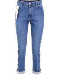 Stella McCartney - Jeans With Logo Band - Lyst