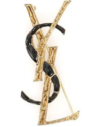 Saint Laurent - Bicolor Opyum Brooch - Lyst