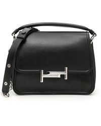 Tod's - Double T Bag With Strap - Lyst
