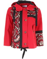 RED Valentino - Jacket With Bandhana Embroidery - Lyst