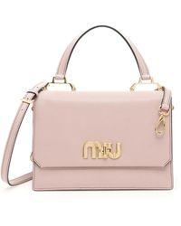 Miu Miu - Miu Logo Handbag - Lyst