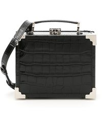 Aspinal - Croc Print Leather Mini Trunk Bag - Lyst
