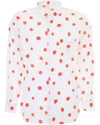 Comme des Garçons - Red Polka Dots Shirt - Lyst