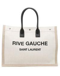 Saint Laurent - Rive Gauche Canvas Tote Bag - Lyst